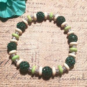 Jewelry - 🎉3 for $15🎉 Green Stretch Bracelet